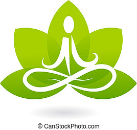 loto, logotipo, ioga, /, ícone