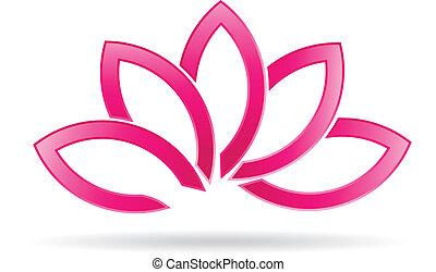 loto, logotipo, planta, luxo, imagem