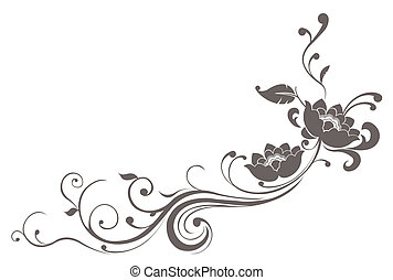 loto, padrão, flor