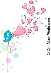 lovebird, bolhas