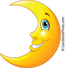 lua sorridente