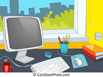 lugar, escritório