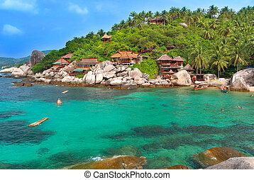 lugar, férias, paraisos