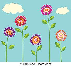 luminoso, flor, cobrança
