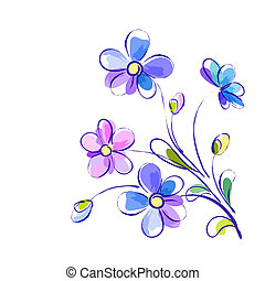 luminoso, vetorial, flores, fundo, violeta