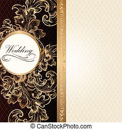 luxo, cartão, convite, casório