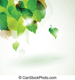 luz, abstratos, verde, efeitos, foliage