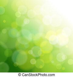 luz, abstratos, verde, experiência.
