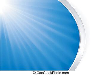 luz azul, abstratos, prata, estouro