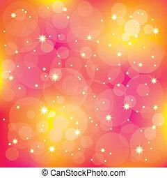 luz, cintilante, fundo, coloridos, estrelas