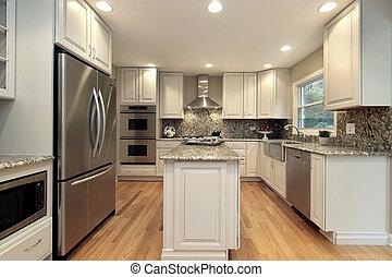 luz, colorido, cabinetry, cozinha