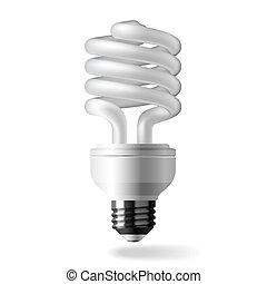 luz, energia, poupar, bulbo