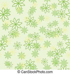 luz, flor, verde, padrão