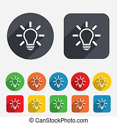 luz, idéia, sinal, lâmpada, icon., símbolo.