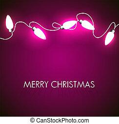 luzes, branca, vetorial, natal, fundo
