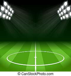 luzes, luminoso, futebol, mancha, fundo