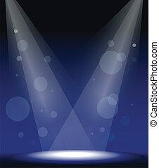 luzes, mancha, fase