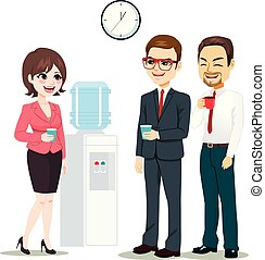 máquina água, businesspeople