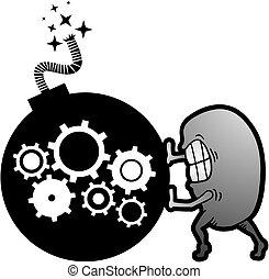 máquina, bomba