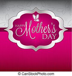 mãe, format., elegante, vetorial, dia, cartão