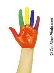 mão, pintado