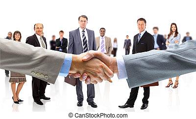 mãos, comércio pessoas, agitação