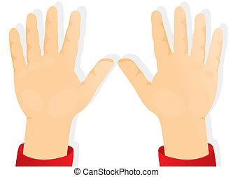 mãos, crianças, expedir, palmas