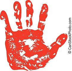 mãos, impressões