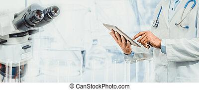 médico, concept., ciência, pesquisa