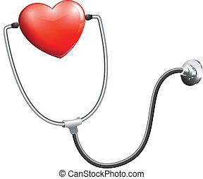médico, estetoscópio