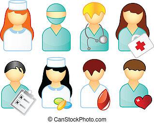médico, jogo, pessoas