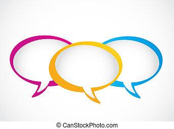 mídia, bolhas, social, fala, grupo