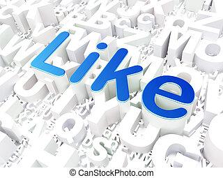 mídia, concept:, social, fundo, semelhante, alfabeto
