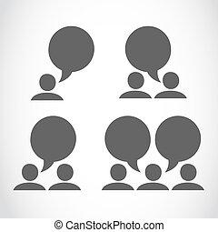 mídia, conexão, grupo, social