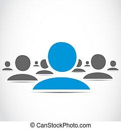 mídia, grupo, social