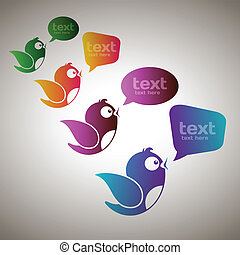 mídia, mensageiros, social