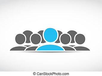 mídia, social, conceitos