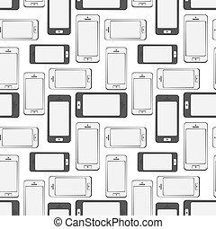 móvel, padrão, seamless, fundo, smartphone, dispositivos
