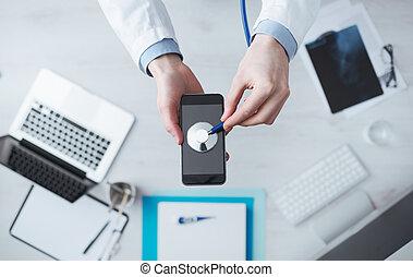 móvel, tecnologia médica, app