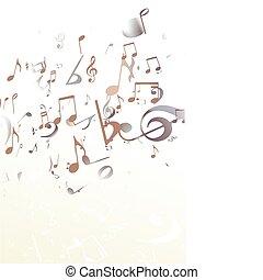 música, fundo, abstratos