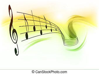 música, fundo