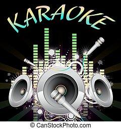 música, karaoke, fundo