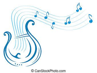música, lyre