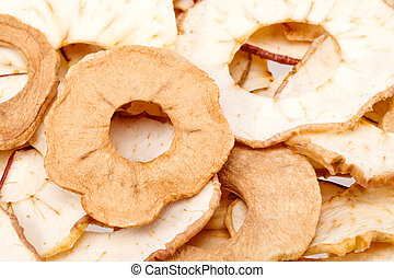 maçã cortam fatias, cima, secado, fundo, fim