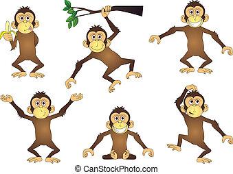macaco, caricatura, cobrança