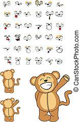 macaco, caricatura, set03