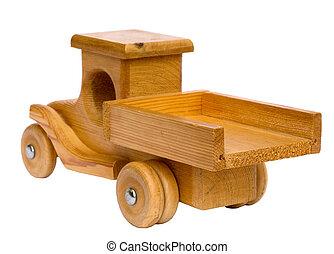 madeira, caminhão, partir