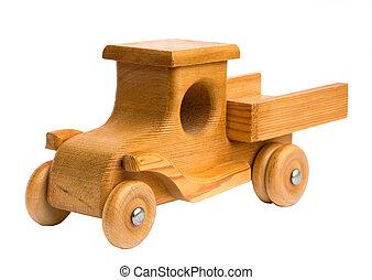 madeira, chegando, caminhão