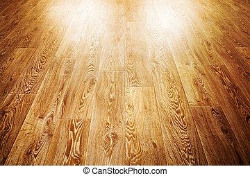 madeira, cobertura, chão
