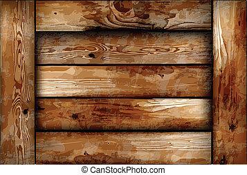 madeira, frágil, box., vetorial, fundo